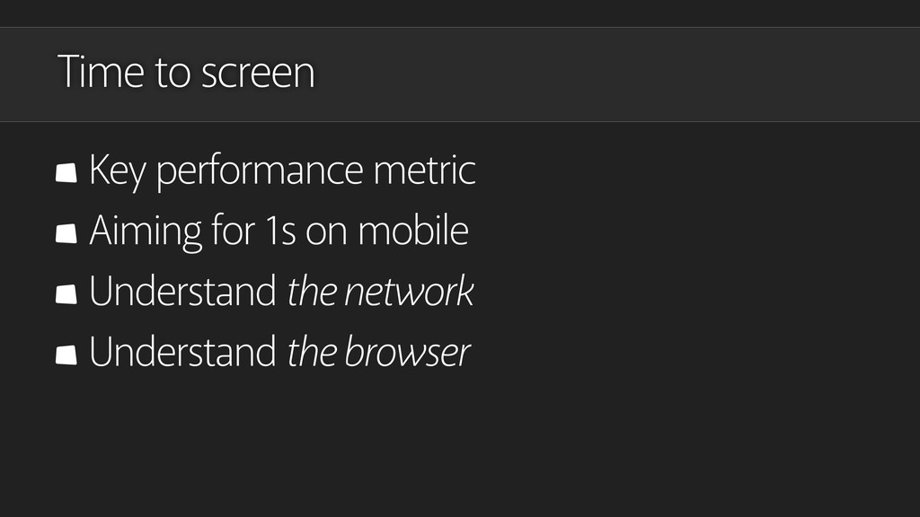 Time to screen Key performance metric Aiming fo...