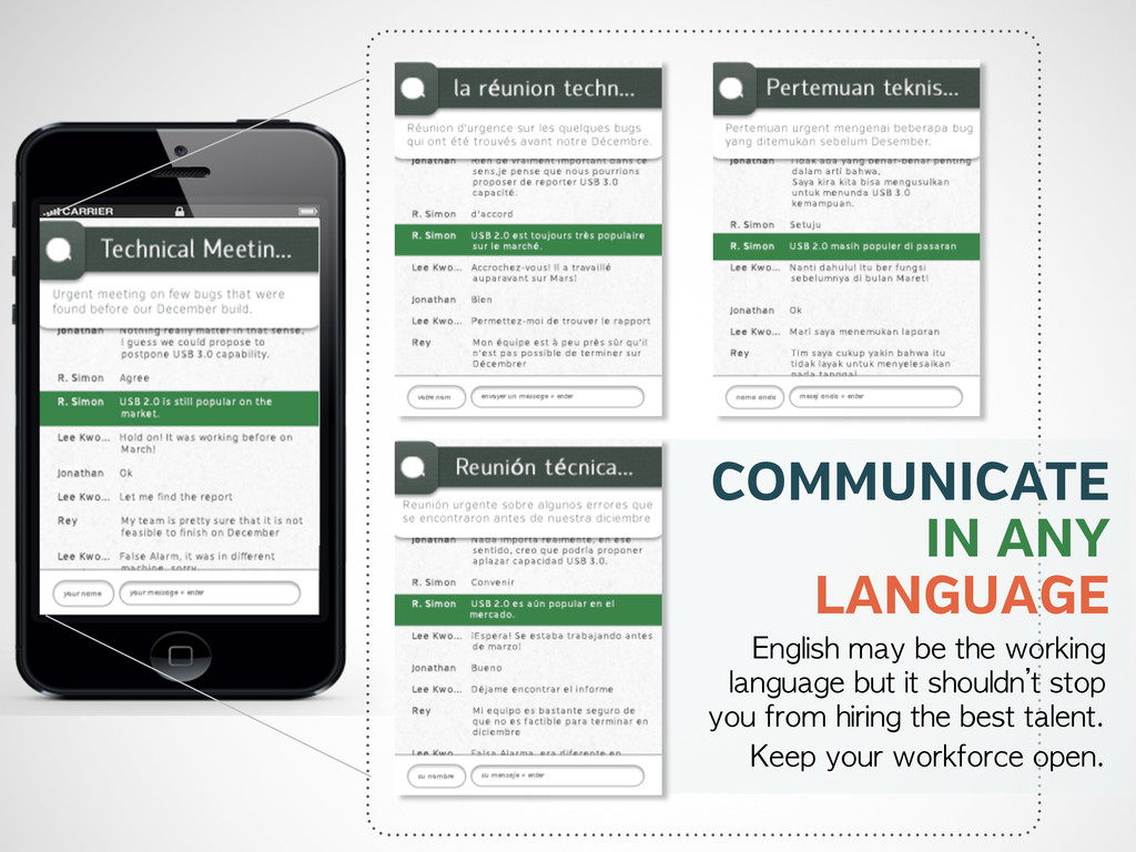 COMMUNICATE IN ANY LANGUAGE English may be t...