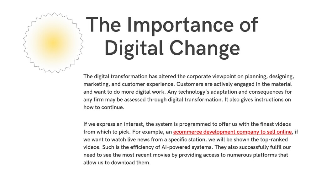 The Importance of Digital Change The digital tr...