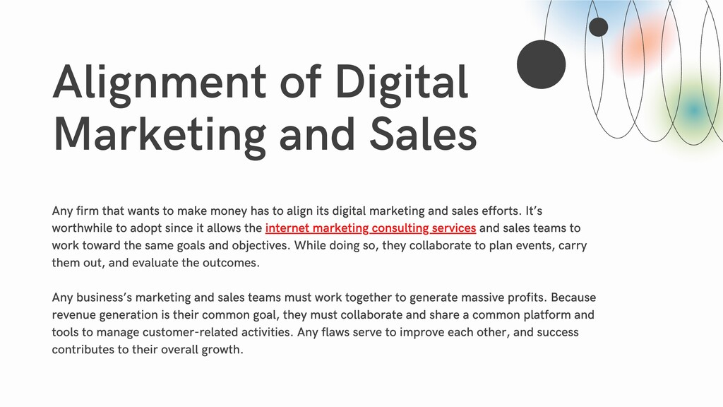 Alignment of Digital Marketing and Sales Any fi...