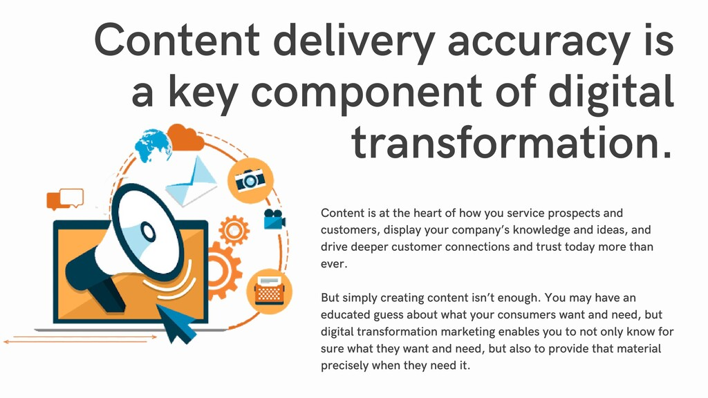Content delivery accuracy is a key component of...