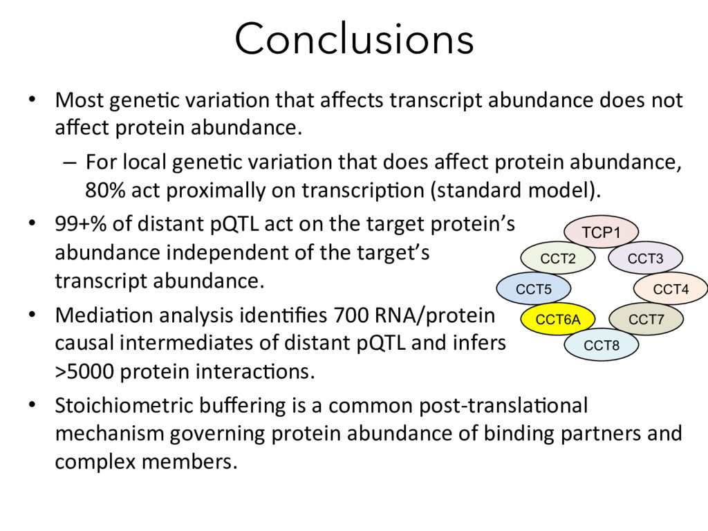 Conclusions •  Most gene)c varia)on that affects...
