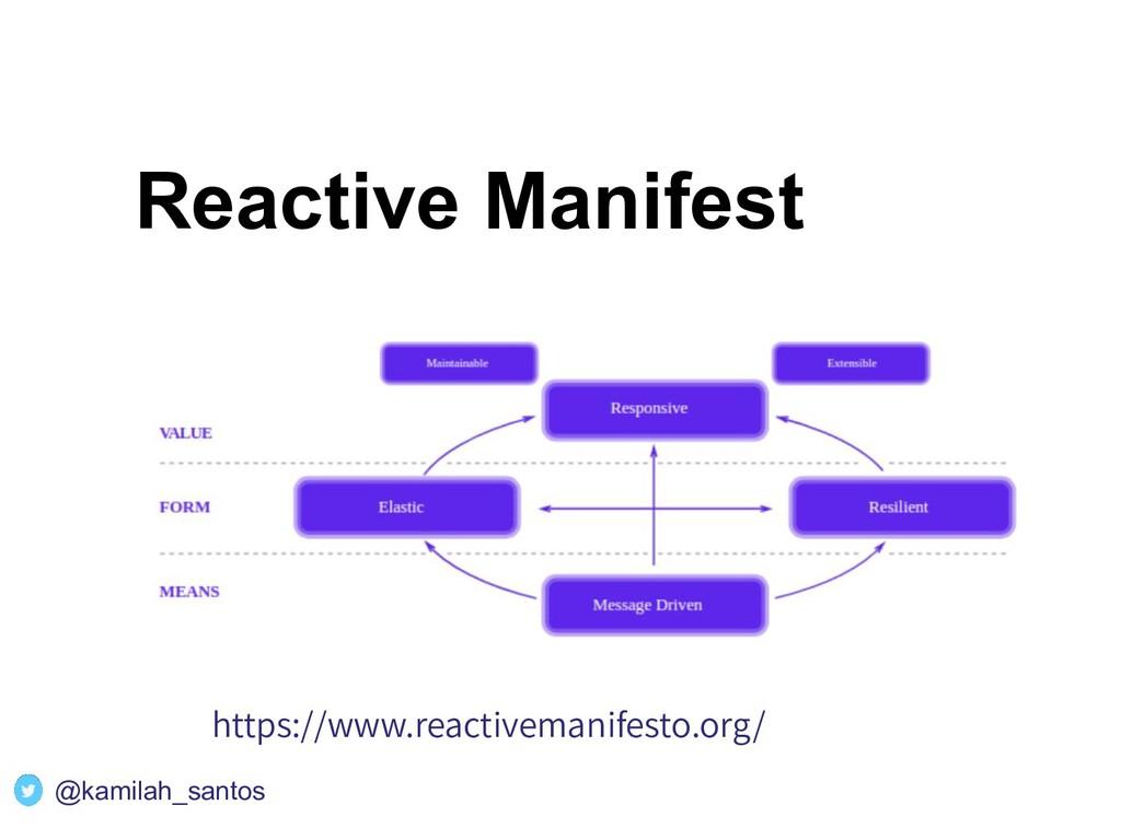 Reactive Manifest https://www.reactivemanifesto...