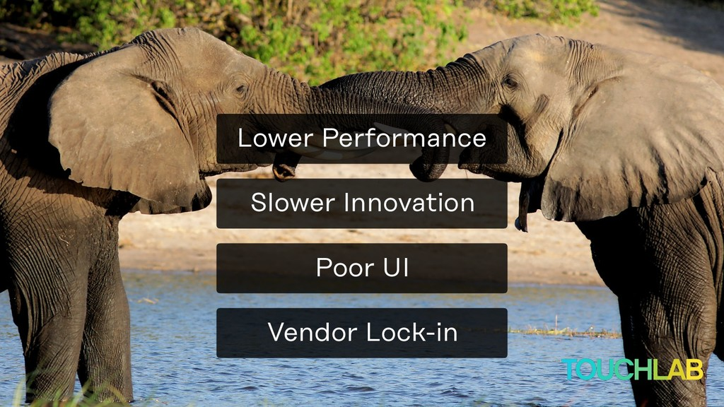 Vendor Lock-in Poor UI Slower Innovation Lower ...