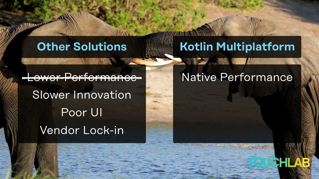 Native Performance Other Solutions Lower Perfor...