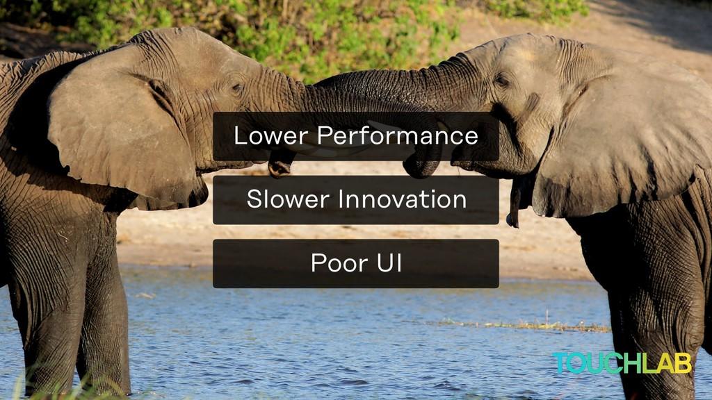 Slower Innovation Poor UI Lower Performance