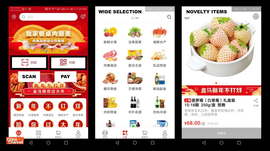 SCAN PAY NOVELTY ITEMS WIDE SELECTION