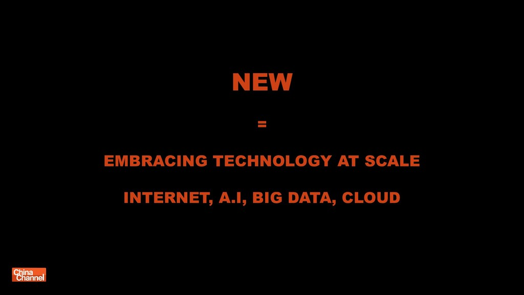 NEW = EMBRACING TECHNOLOGY AT SCALE INTERNET, A...