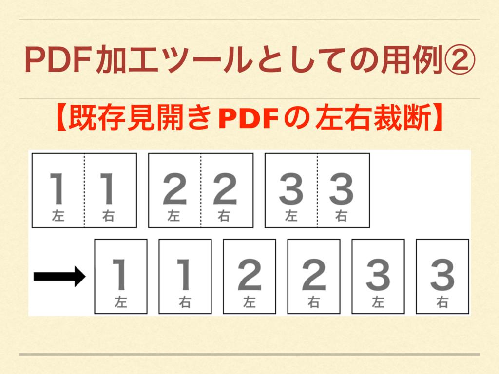 1%'  Ճπʔϧͱͯ͠ͷ༻ྫᶄ ʲطଘݟ։͖ PDF ͷ ࠨӈࡋஅʳ