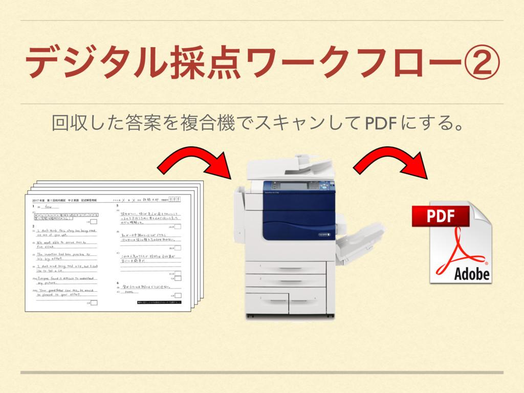 σδλϧ࠾ϫʔΫϑϩʔᶄ ճऩͨ͠ҊΛෳ߹ػͰεΩϟϯͯ͠ PDF ʹ͢Δɻ