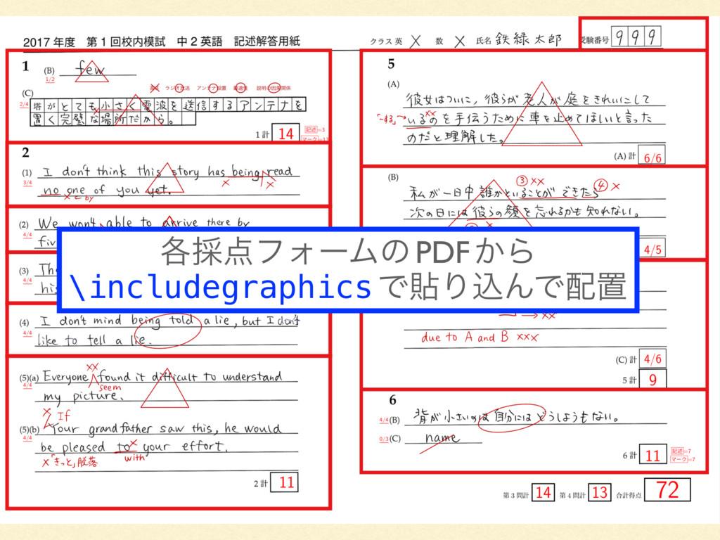 ֤࠾ϑΥʔϜͷ PDF ͔Β \includegraphics ͰషΓࠐΜͰஔ