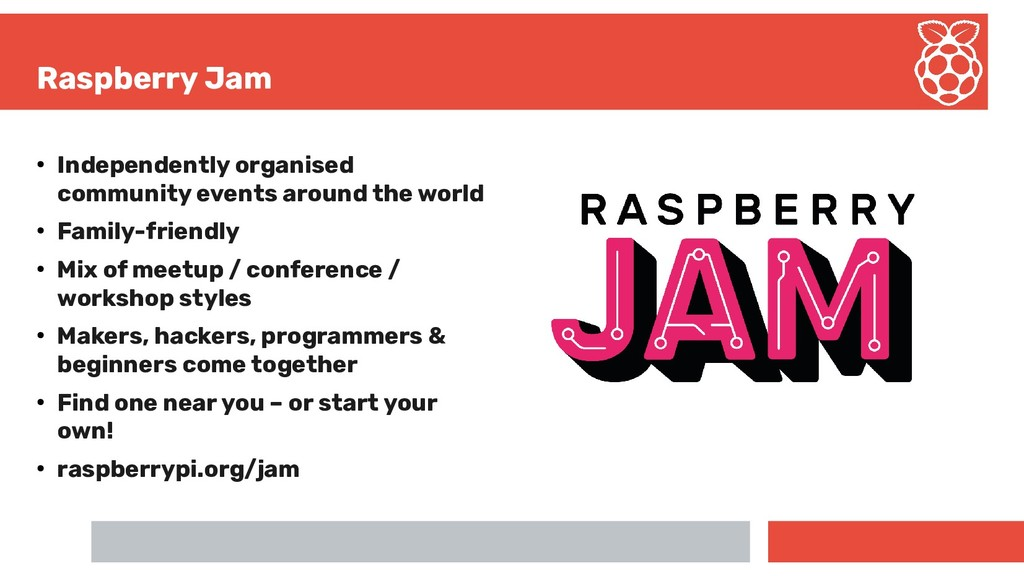 Raspberry Jam ● Independently organised communi...