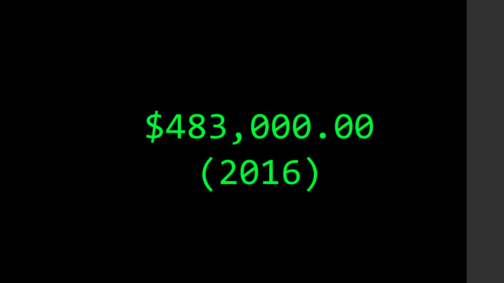 $483,000.00 (2016)