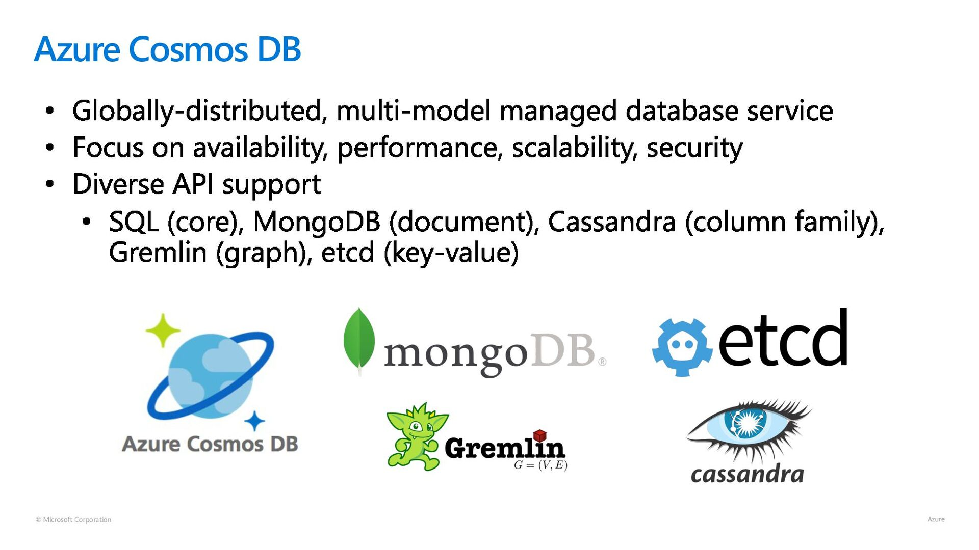 © Microsoft Corporation Azure Cosmos DB