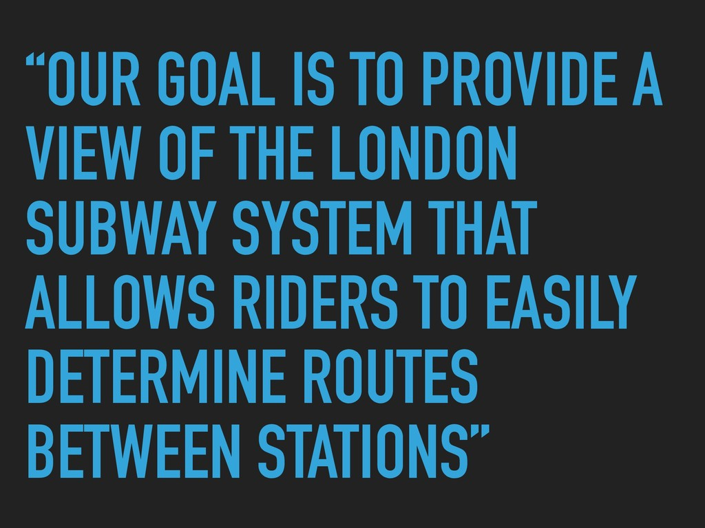 """""""OUR GOAL IS TO PROVIDE A VIEW OF THE LONDON SU..."""