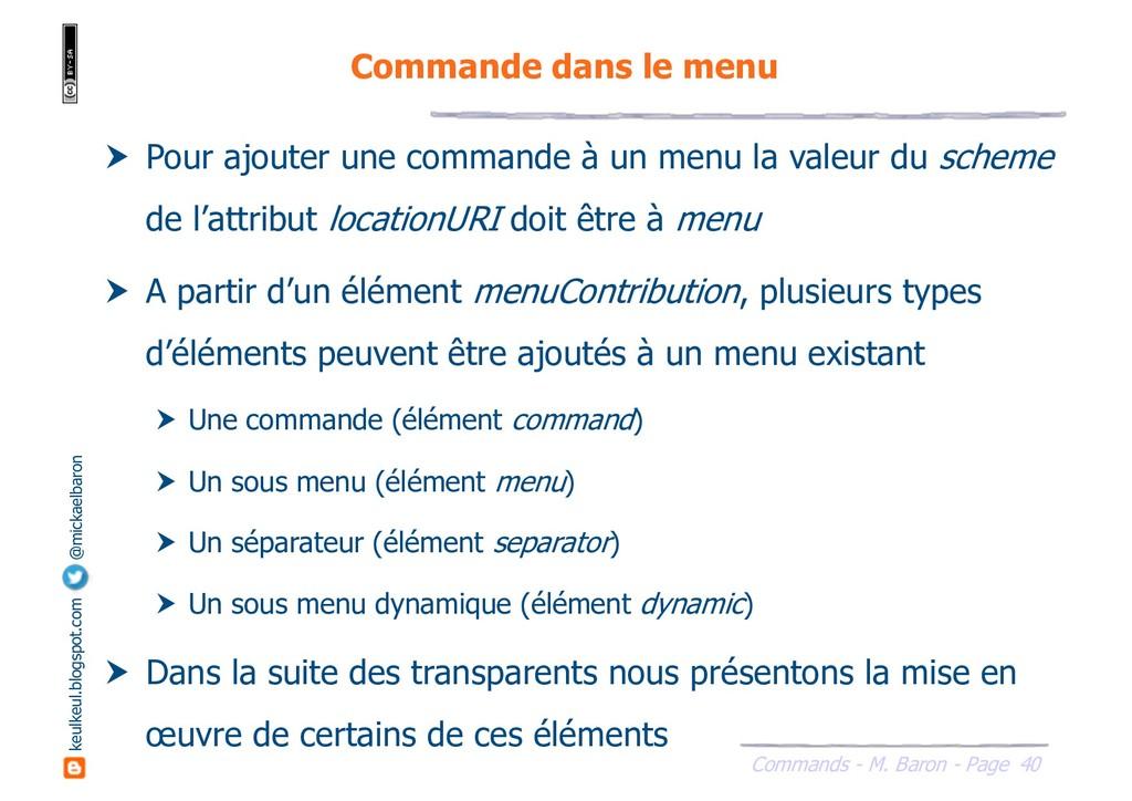 40 Commands - M. Baron - Page keulkeul.blogspot...