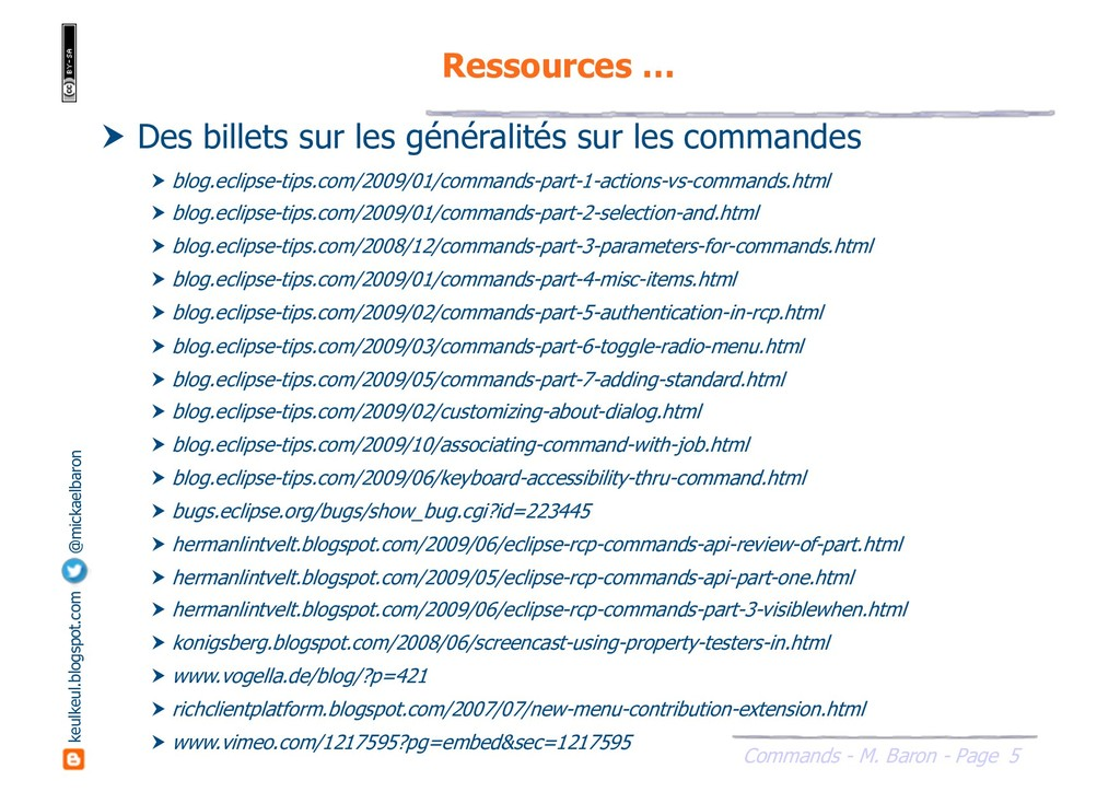 5 Commands - M. Baron - Page keulkeul.blogspot....