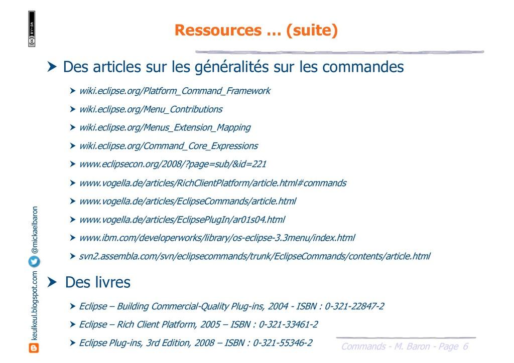 6 Commands - M. Baron - Page keulkeul.blogspot....