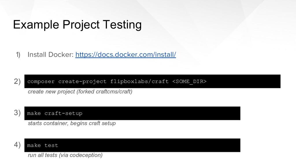 4) 3) 2) 1) Install Docker: https://docs.docker...