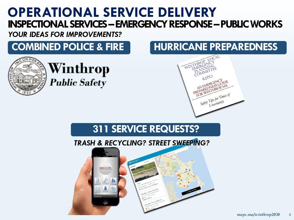 mapc.ma/winthrop2030 4 INSPECTIONAL SERVICES –E...
