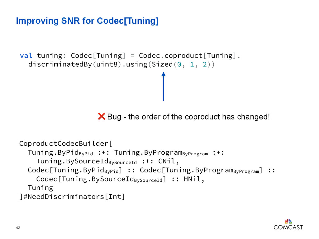 Improving SNR for Codec[Tuning] 42 val tuning: ...