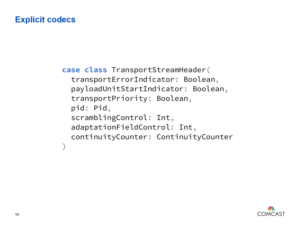 Explicit codecs 10 case class TransportStreamHe...