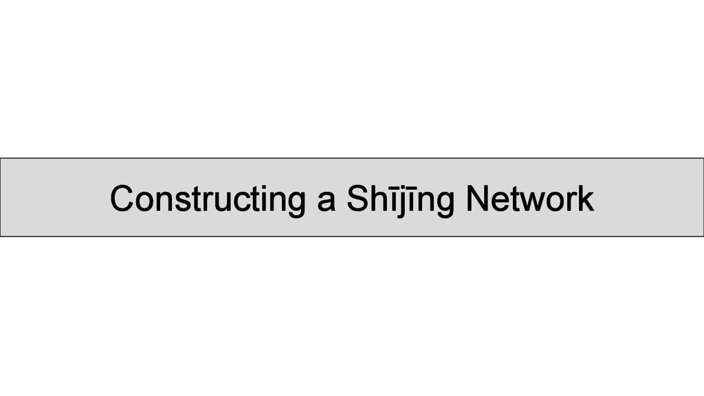 Constructing a Shījīng Network