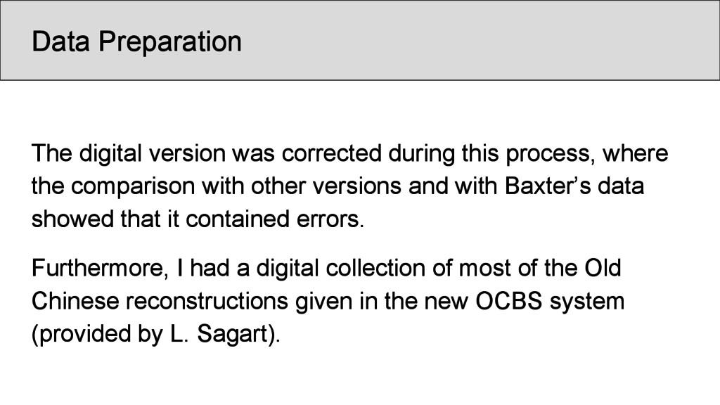 Data Preparation The digital version was correc...