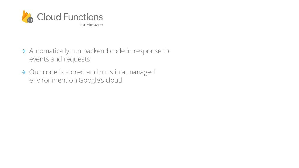 Automatically run backend code in response to e...