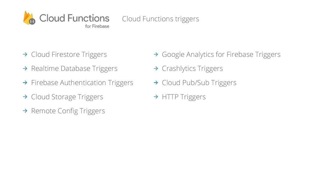 Cloud Firestore Triggers Realtime Database Trig...