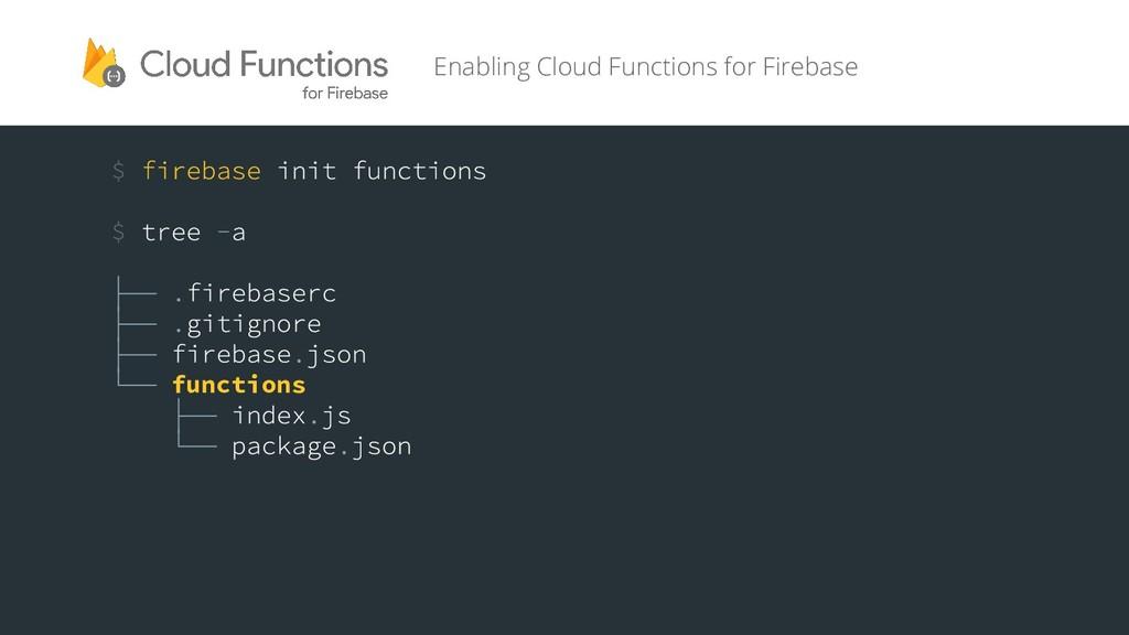 functions Enabling Cloud Functions for Firebase