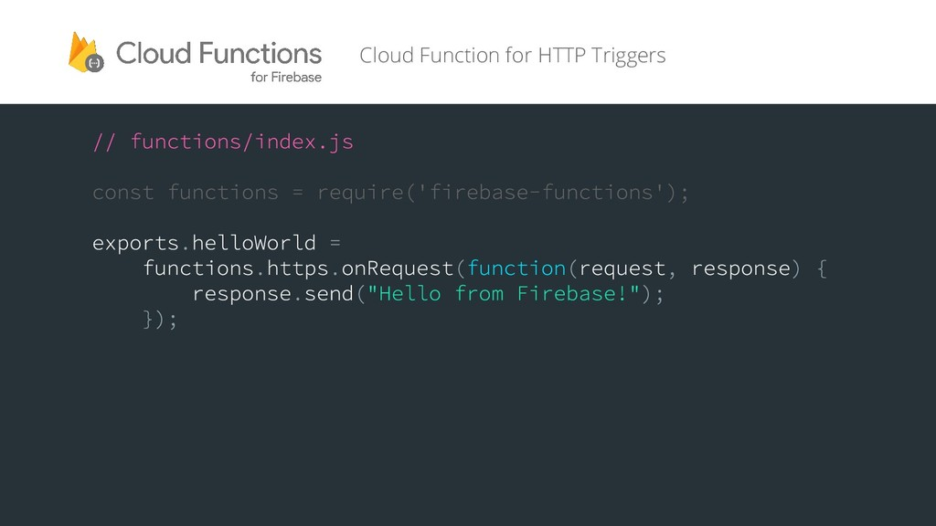 Cloud Function for HTTP Triggers
