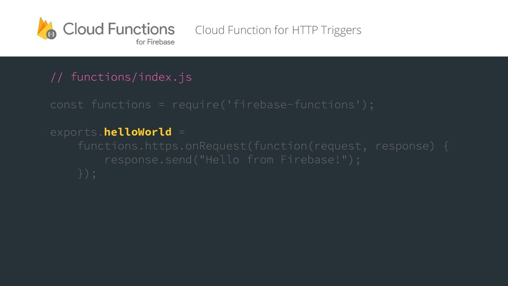 helloWorld Cloud Function for HTTP Triggers