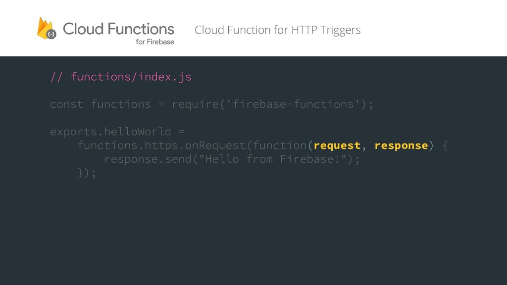 request response Cloud Function for HTTP Trigge...
