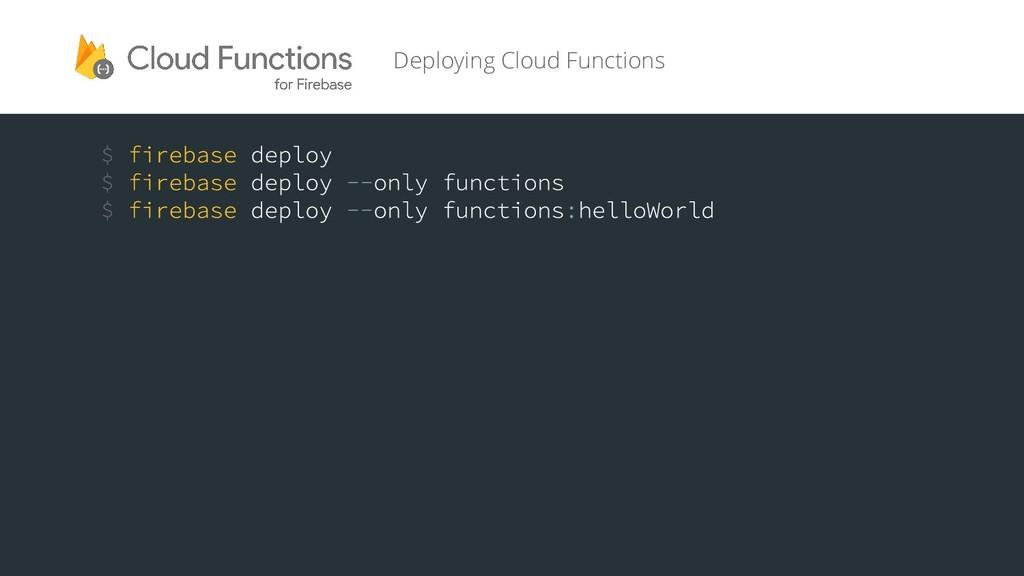 Deploying Cloud Functions