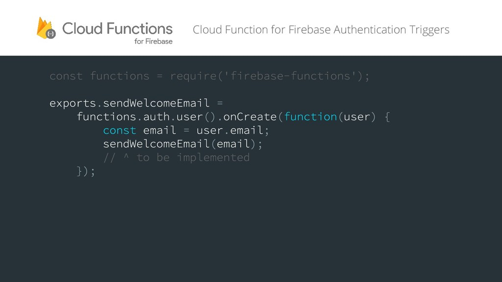 Cloud Function for Firebase Authentication Trig...