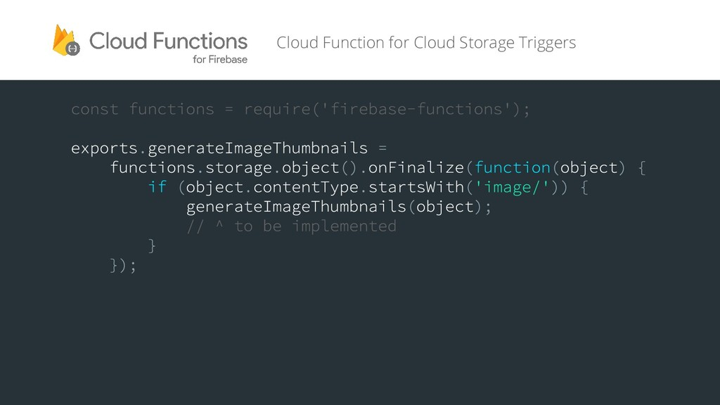 Cloud Function for Cloud Storage Triggers