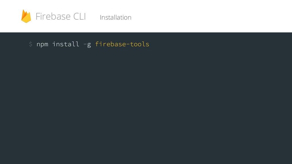 Installation Firebase CLI