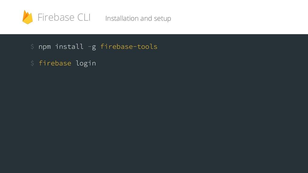 Installation and setup Firebase CLI