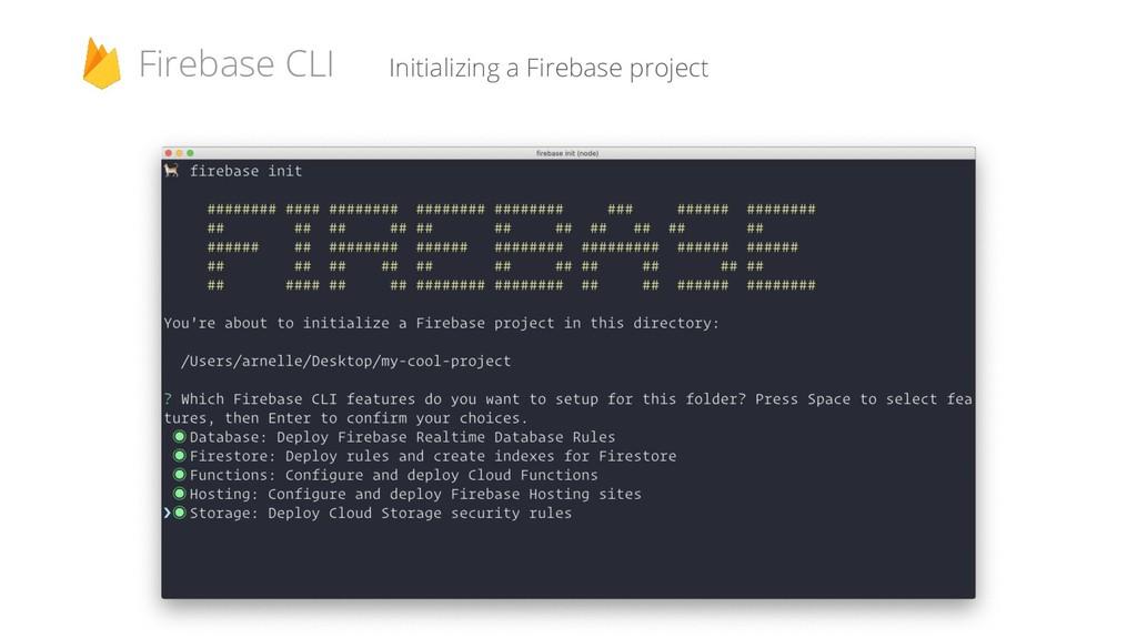 Initializing a Firebase project Firebase CLI