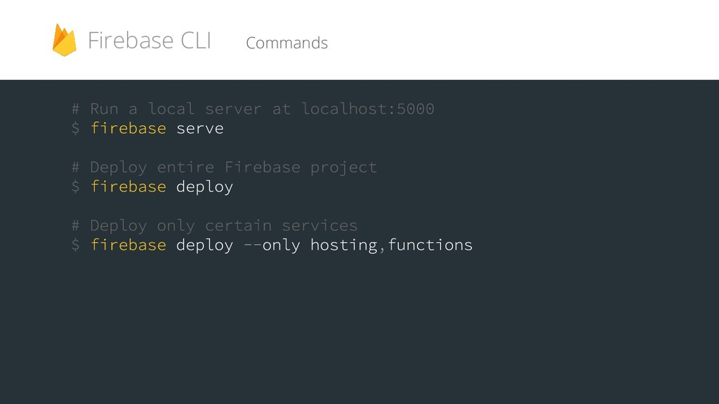 Commands Firebase CLI