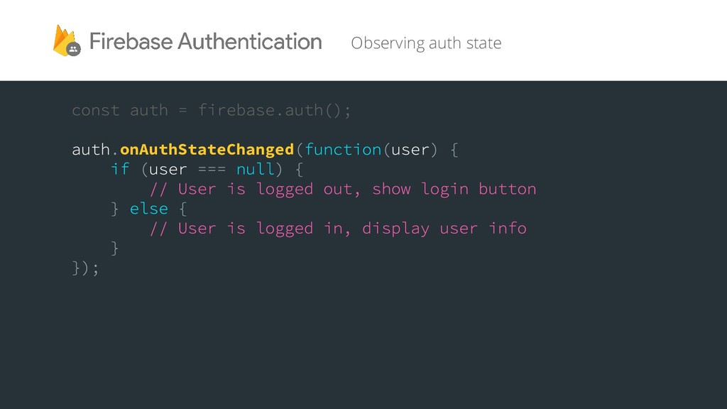 onAuthStateChanged Observing auth state