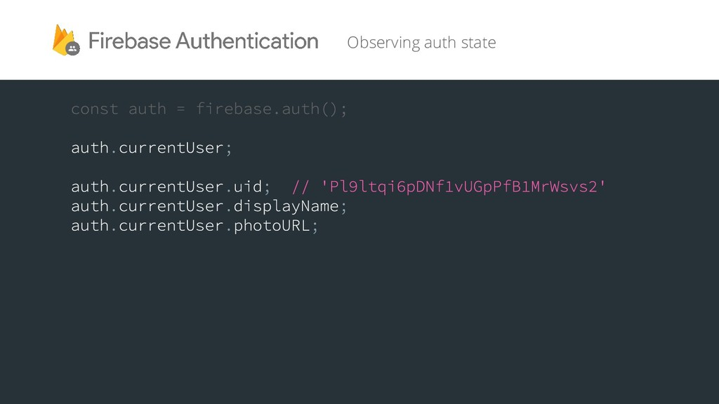 Observing auth state