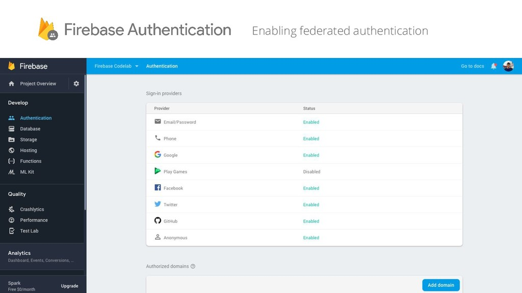 Enabling federated authentication