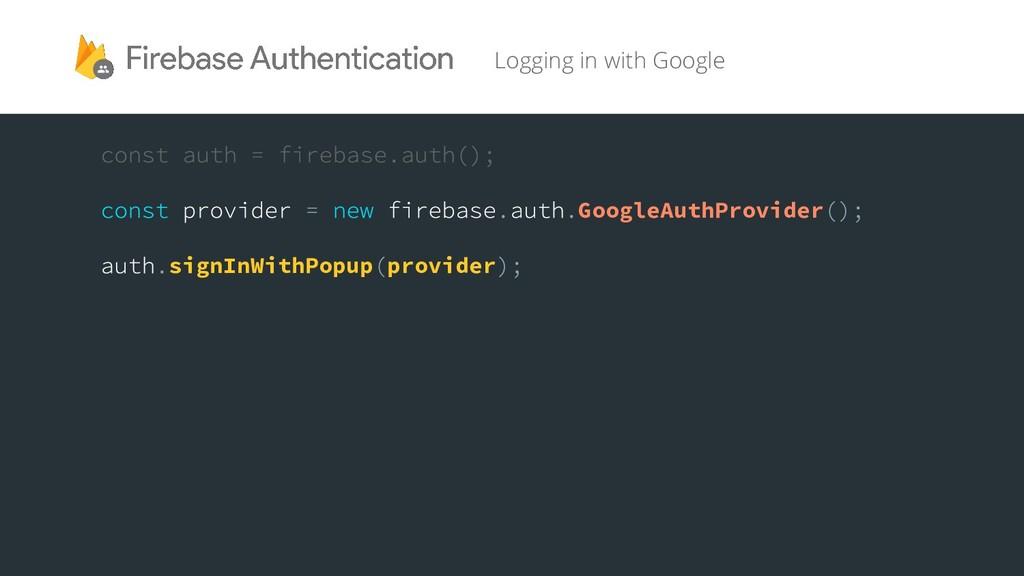 GoogleAuthProvider signInWithPopup provider Log...