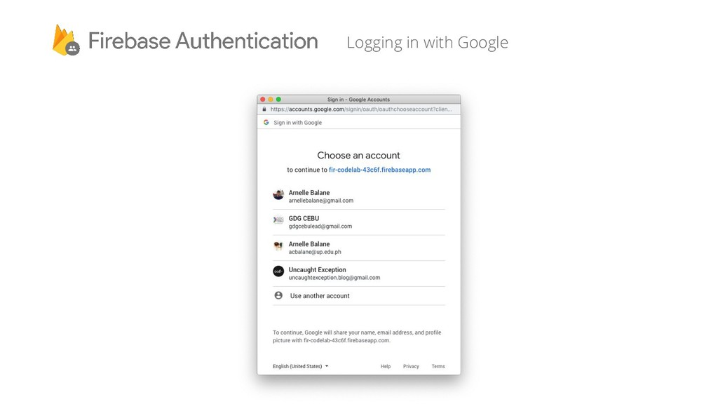 Logging in with Google