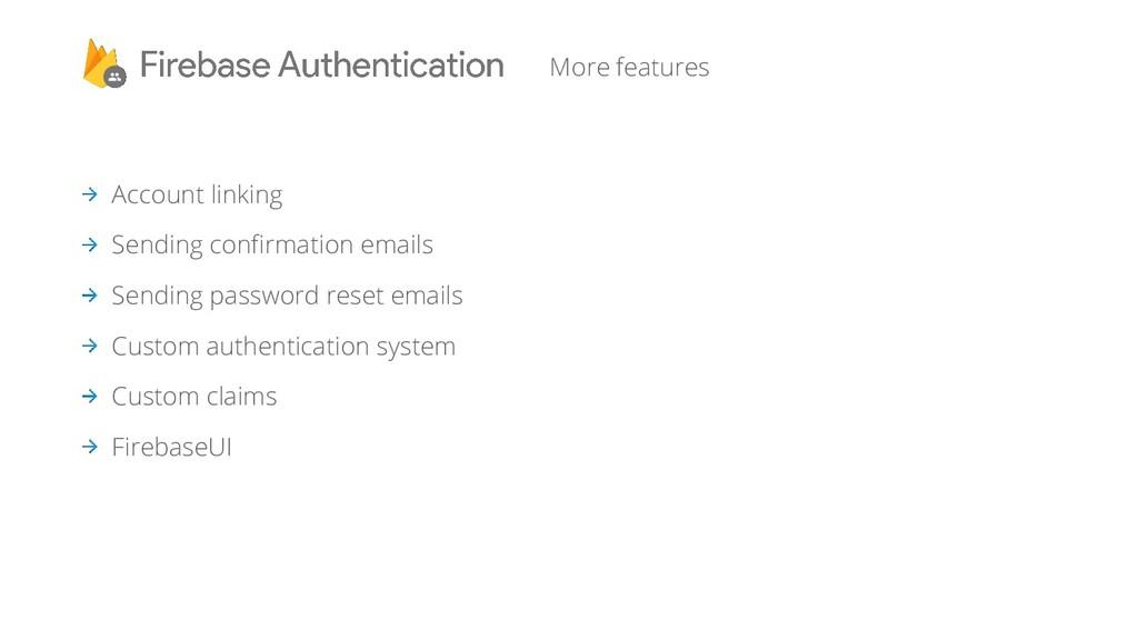 Account linking Sending confirmation emails Sen...