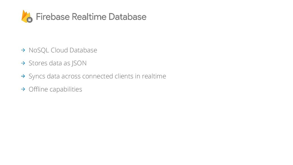 NoSQL Cloud Database Stores data as JSON Syncs ...