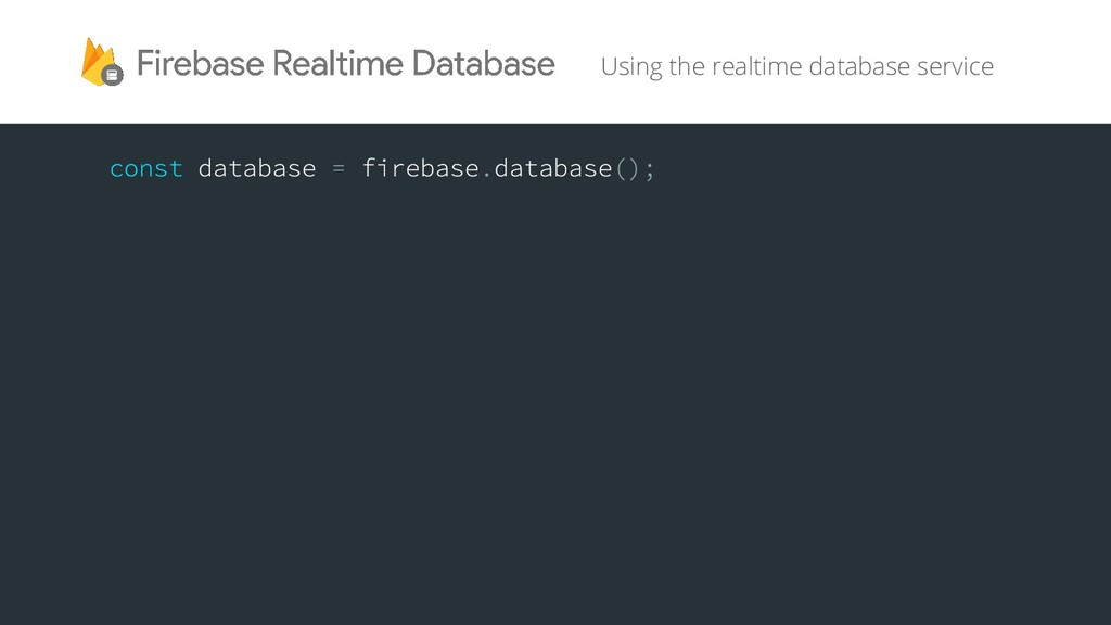 Using the realtime database service