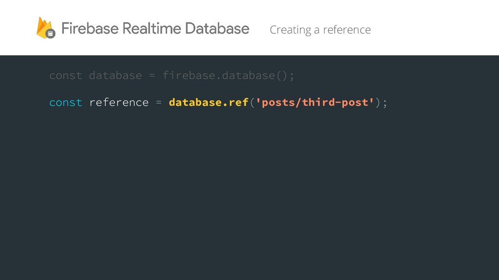 Creating a reference database.ref 'posts/third-...